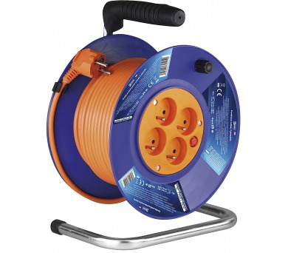 PVC prodlužovací kabel na bubnu - 4 zásuvky 25m 1mm