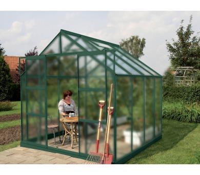 Skleník Lanit Plast VITAVIA URANUS 6700 matné sklo 4 mm zelený