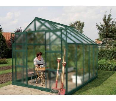 Skleník Lanit Plast VITAVIA URANUS 8300 matné sklo 4 mm zelený