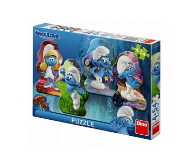 Puzzle Šmoulové 3: Hrdinové 4x54 dílků 13x19cm v krabici 33x23x3,5cm + DOPRAVA ZDARMA