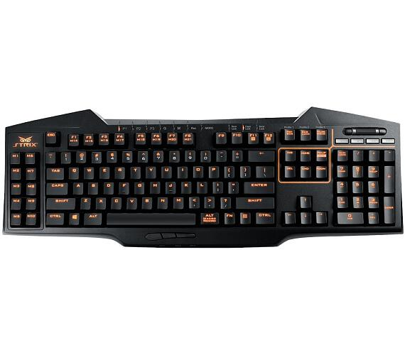 ASUS STRIX Tactic Pro mech. keyboard BLACK (US layout) + dárek ASUS CERBERUS Pad SPEED (90YH0081-B2