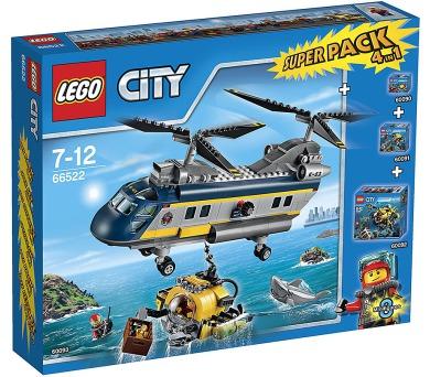 LEGO City 66522 Velká sada Podmořská výzkumná expedice 4v1 (obsahuje 60090 + DOPRAVA ZDARMA
