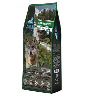 Wolf's Mountain Dog Wild Forest Grain Free 12,5 kg + DOPRAVA ZDARMA