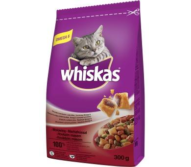 Whiskas dry - hovězí 300 g