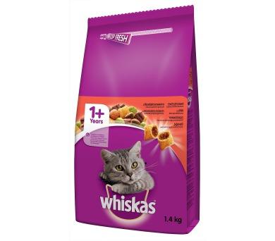 Whiskas dry - hovězí 1,4 kg