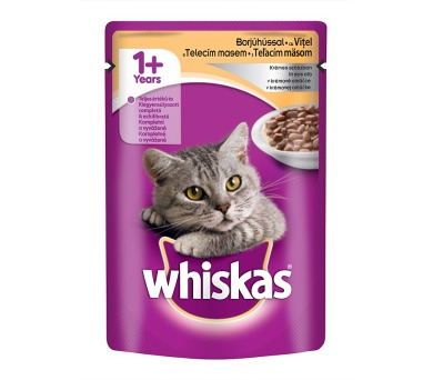 Whiskas kaps. - s telecím v krémové omáčce 100 g