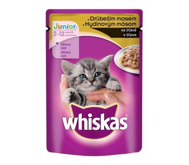 Whiskas kaps. Junior - s drůbežím ve šťávě 100 g