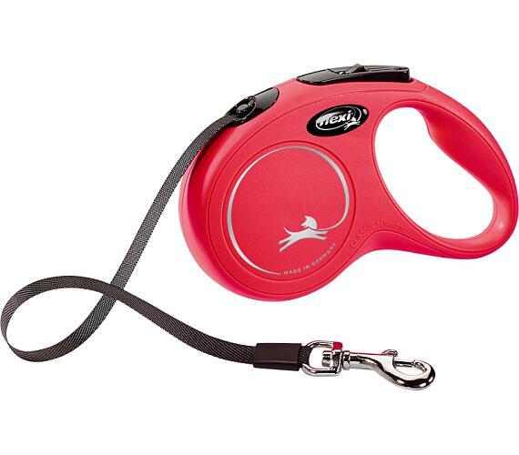 Flexi Classic NEW S pásek 5 m červené 15 kg