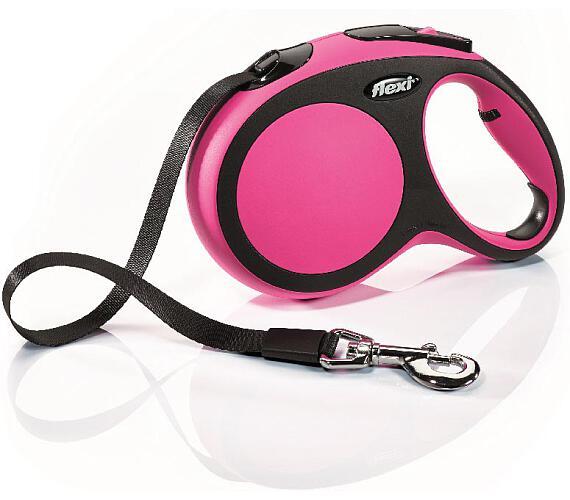 Flexi New Comfort L pásek 5 m růžové 60 kg