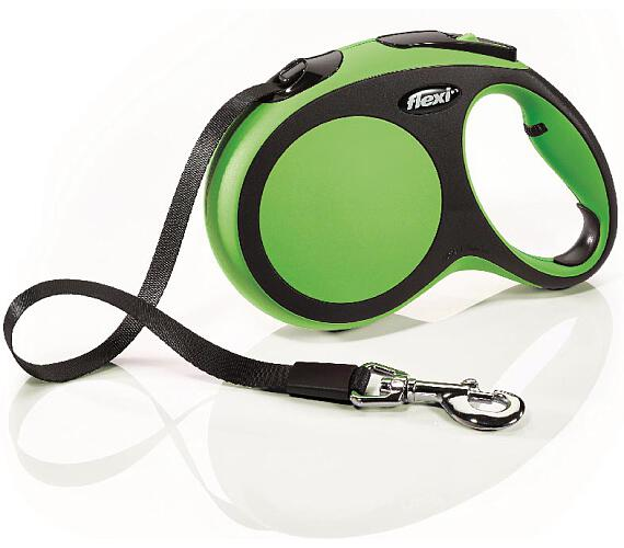 Flexi New Comfort L pásek 5 m zelené 60 kg