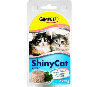 Gimpet Shiny cat konz. Junior - kuře 2 x 70 g