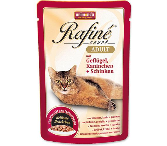 Animonda Rafine Soupe cat kaps. - drůb+králík+šunk 100 g