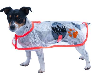 """Obleček - Pláštěnka """"Bella""""průhl reflex neon oranž 32 cm"""