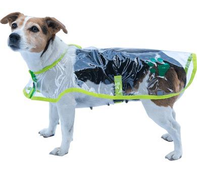 """Obleček - Pláštěnka """"Bella""""průhl reflex neon zelen 32 cm"""