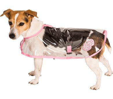 """Obleček - Pláštěnka """"Bella""""průhledná reflex růžová 20 cm"""
