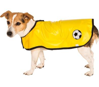 """Obleček - Pláštěnka """"Bella""""žlutá lem černý 45 cm"""