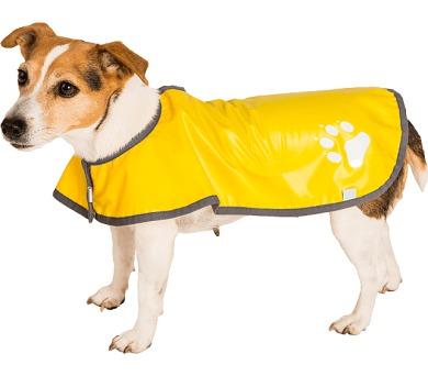 """Obleček - Pláštěnka """"Bella""""žlutá lem šedý 28 cm"""