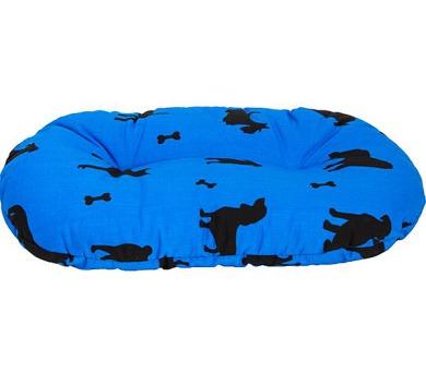 Polštář ovál bavl.Bafani modrý 100 cm