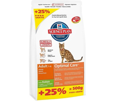 Hill's Feline Adult Rabbit 2 kg + 0,5 kg zdarma
