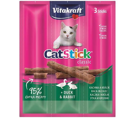 Vitakraft Stick mini cat kachna + králík 3 ks
