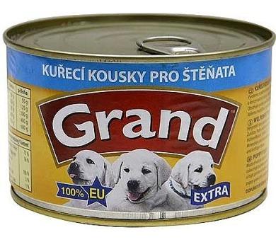 Grand Extra konz. kuřecí kousky pro štěňata 405 g