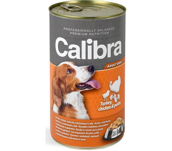 Calibra Dog konz.-krůta + kuřecí +těstoviny v želé 1240 g