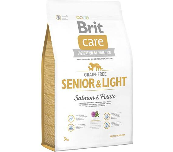 Brit Care Grain Free Dog Senior&Light S & P 3 kg