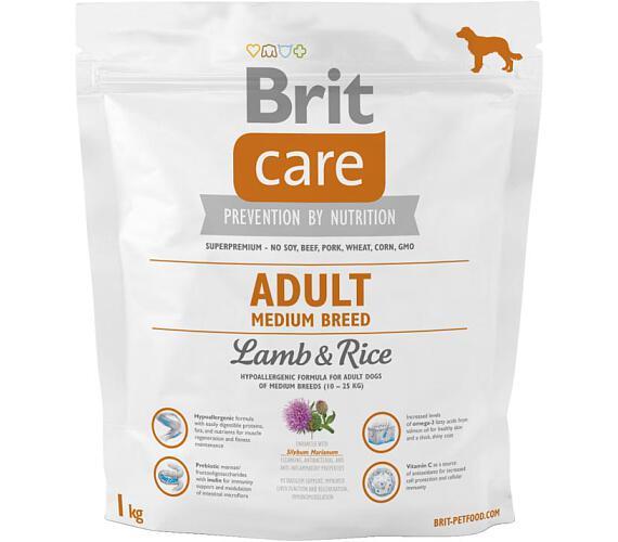 Brit Care Dog Adult Medium Breed Lamb & Rice 1 kg