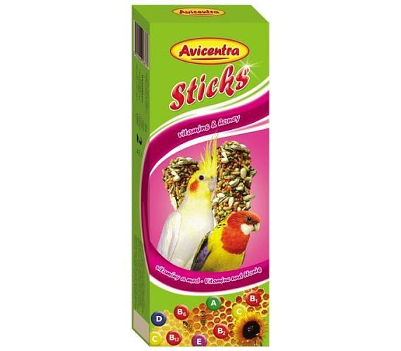 Avicentra tyč malý a stř. papoušek - vitamin a med 2 ks