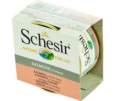 Schesir cat konz. Natural Brine - losos 85 g