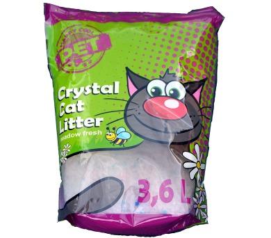 Podestýlka Cat Krystal - Happy Cool s vůní louky 3,6 l