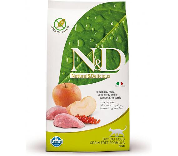 N&D Grain Free Cat Adult Boar & Apple 0,3 kg