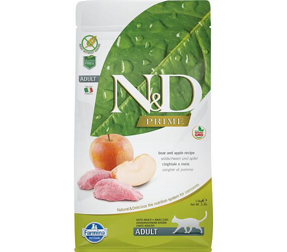 N&D PRIME Cat Adult Boar & Apple 1,5 kg