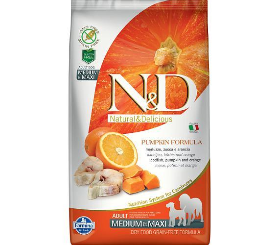 N&D Grain Free Dog Adult M/L Pumpkin Codfish & Orange 2,5 kg