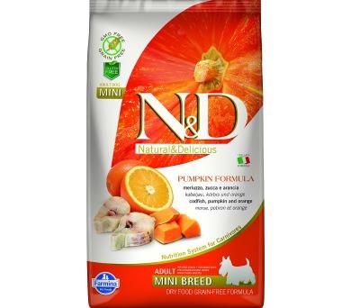 N&D Grain Free Dog Adult Mini Pumpkin Codfish & O 2,5 kg
