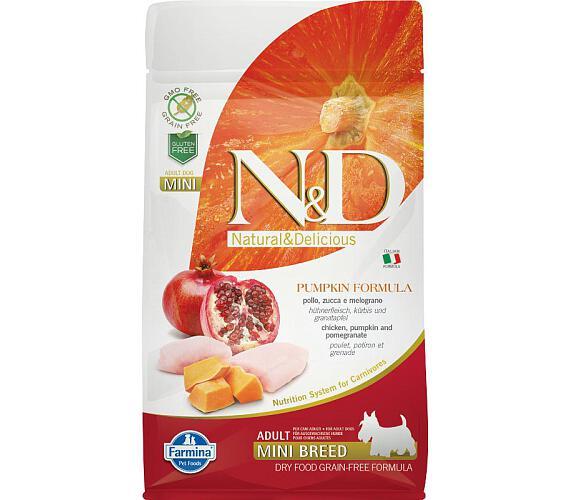 N&D Grain Free Dog Adult Mini Pumpkin Chick & Pomergranate 800 g