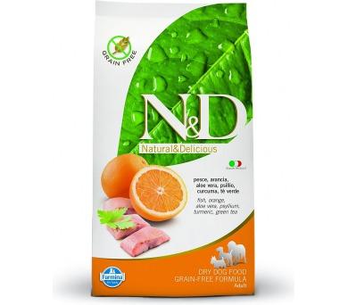 N&D Grain Free Dog Adult Fish & Orange 2,5 kg