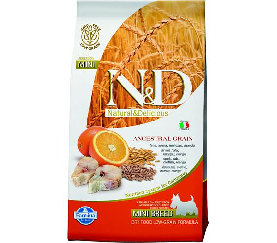 N&D Low Grain Dog Adult Mini Codfish & Orange 0,8 kg