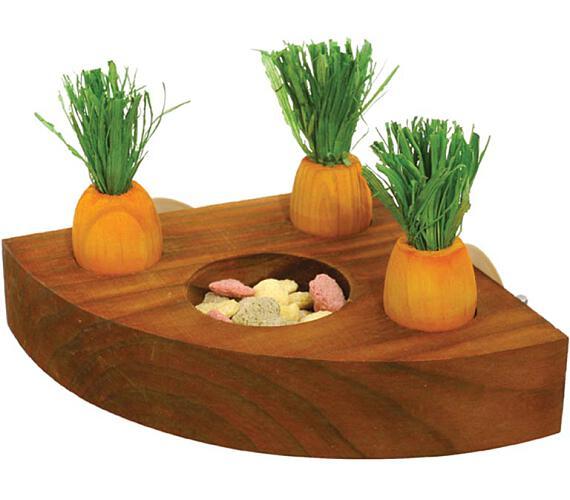 Hračka hlod. dřevo interaktivní - mrkve RW 1 ks