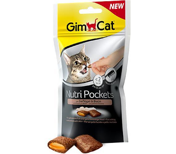 Gimcat Nutri pockets drůběží s biotinem 60 g