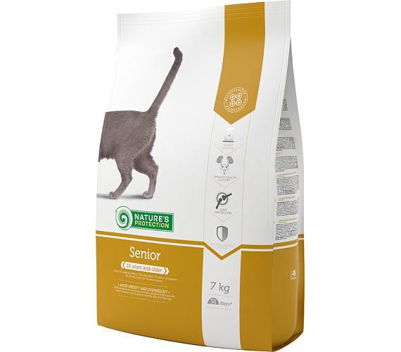 Nature's Protection Cat Dry Senior 7 kg + DOPRAVA ZDARMA