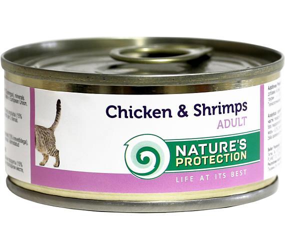 Nature's Protection Cat konz.Adult kuře/kreveta 100 g