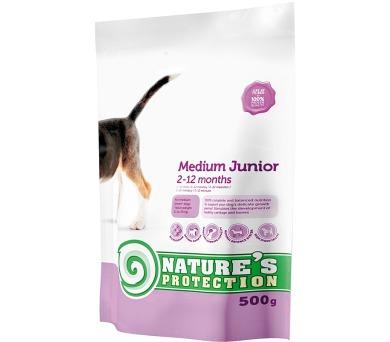 Nature's Protection Dog Dry Junior Medium 500 g