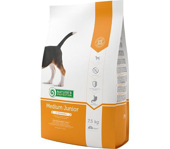 Nature's Protection Dog Dry Junior Medium 7,5 kg + DOPRAVA ZDARMA