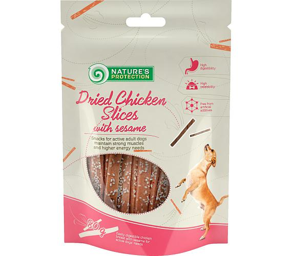 Nature's Protection Dog Snack kuřecí proužky+sezam 80 g