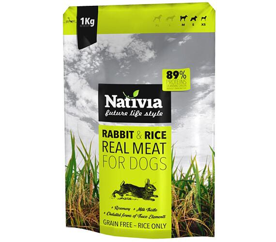 Nativia Dog REAL Meat Rabbit & Rice 1 kg