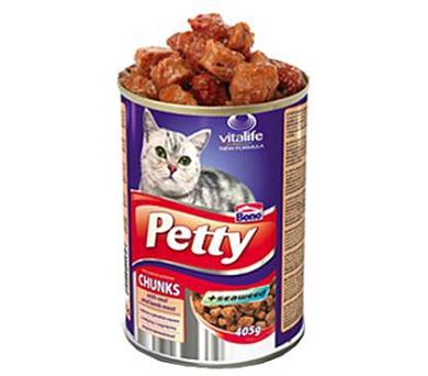 Petty cat konz. s kuřetem a tuňákem 405 g