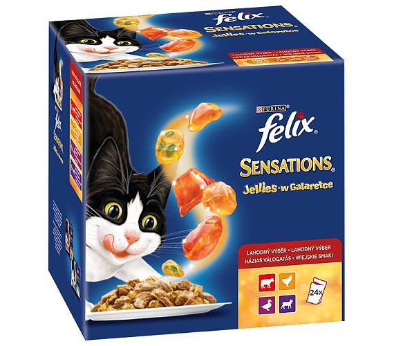 Felix cat kaps.-Sens.Jellies Multipack v želé 24 x 100 g
