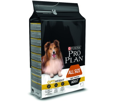 PRO PLAN Dog Adult ALL SIZE Light/Sterilised 3 kg