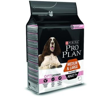 PRO PLAN Dog Adult Medium&Large 7+ Sens.Skin 3 kg
